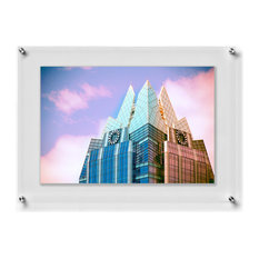 "Double Panel Wall Frame with Silver Mounts, 23""x33"", For 20""x30"" Photos and Art"