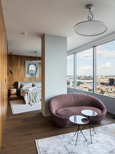 Современный Спальня by Интерра студия дизайна и архитектуры