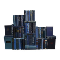 Midcentury Blue Book Wall, 75-Piece Set