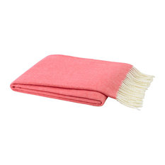 Italian Herringbone Throw, Coral