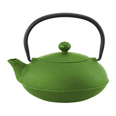Kyusu 20 Oz. Cast Iron Tea Pot, Green