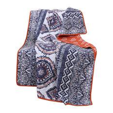 "Greenland Medina Saffron Throw Blanket, 50""x60"""