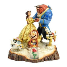 Enesco Disney Traditions Carved By Heart Beauty & the Beast
