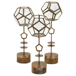 Contemporary Terrariums by IMAX Worldwide Home