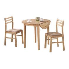 Elegant 3-Piece Dining Set Natural