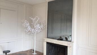 Réalisation de miroir cheminée