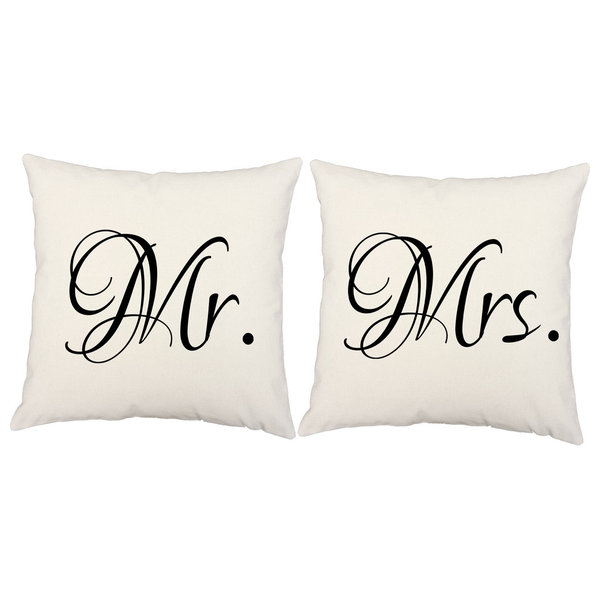 RoomCraftMr. Mrs. Throw Pillow Covers