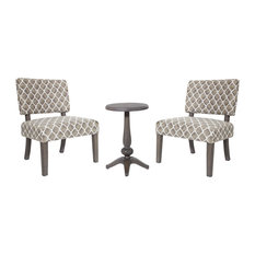 Table and Chairs, Desert Taupe With Gray Legs and Gray Table