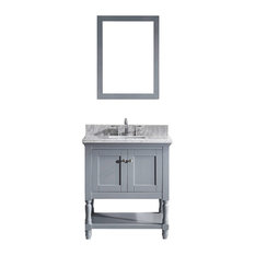 "Julianna 32"" Single Bathroom Vanity Cabinet Set, Gray"