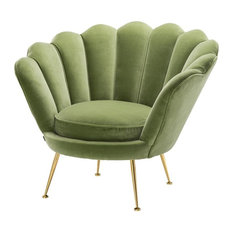"Green Scalloped Chair | Eichholtz Trapezium, green, 38""W x 31""D x 32""H"