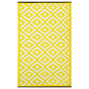 Nirvana Indoor/Outdoor Rug, Yellow and White, 150x240 cm