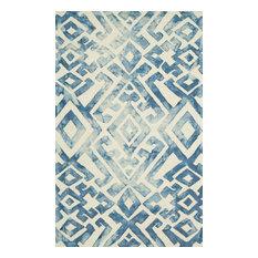 Weave & Wander Marengo Rug, Midnight Blue, 10' Round