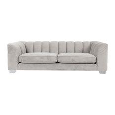 Enzo Channel-Back Sofa, Bone, 2-Seater