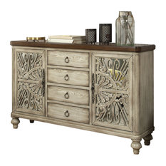 Acme Vermont 4 Drawer Console Table Antique White