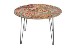 Deny Designs Khristian A Howell Sedona Round Table Steel Legs