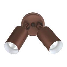 NICOR Double Cylinder Bullet Outdoor Lighting, Bronze