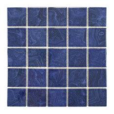 "SomerTile 12""x12"" Resort Porcelain Mosaic Floor/Wall Tile, Marine Blue"