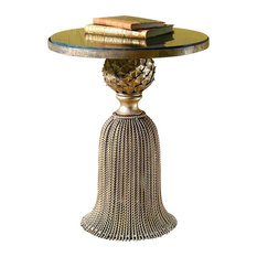 Twisted Iron Tassel Side Table