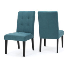 GDF Studio Chaplin Fabric Dining Chair Teal Set Of 2