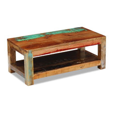 vidaXL Solid Reclaimed Wood Coffee Side End Accent Table Handmade Living Room