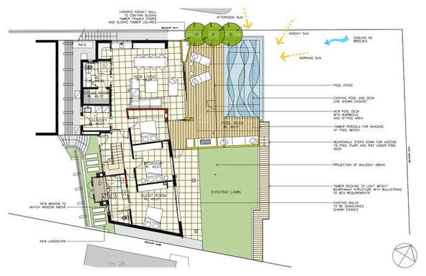 Contemporáneo Plano de ubicación y de paisajismo by justin long design