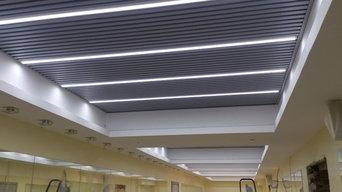 Встраиваемые линейные светильники в реечном потолке