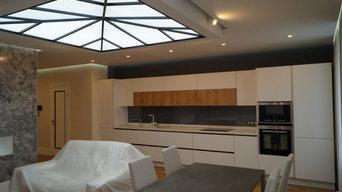Ремонт квартиры в современном стиле - Гостиная - кухня - столовая