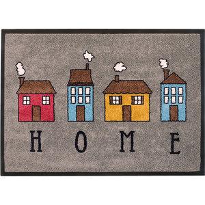 Easy Clean Grey Home Doormat, Small