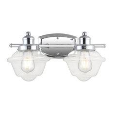 """Orleans 16.75"""" 2-Light Iron LED Vanity Light, Chrome"""