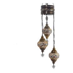 Turkish Tiffany Style Glass Mosaic Chandelier