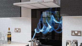 Blue Smoke  Digital Glass Splashbacks