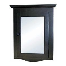 Renovator S Supply Black Solid Wood Corner Medicine Cabinet Recessed Mirror Cabinets