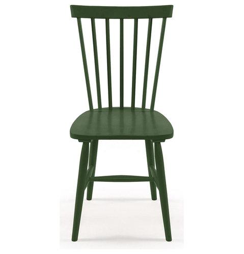 Wood H17 Pinnstol, Mörk Grön - Spisebordsstole