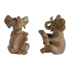 Elephant Bookends, 2-Piece Set