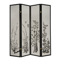 milton greens stars inc dean 4panel room divider with print floral