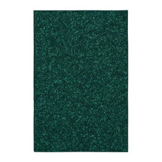 Solid Color Forest Green Area Rug, 8'x10'