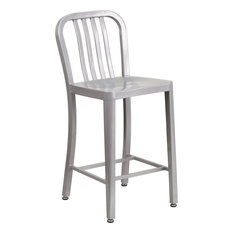 Flash Furniture 24'' High Silver Metal Counter Height Stool