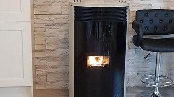 Wood pellet 24 kw boiler stove