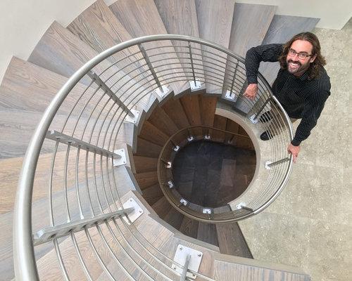 Lido Isle Custom Home 3 Story Spiral Staircase