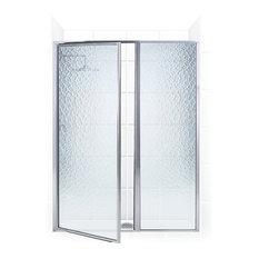"Legend Framed Hinge Swing Shower Door, Inline Panel, Chrome, 41""x69"""
