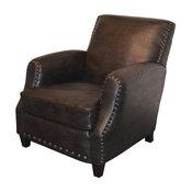 Coachman Leather Club Chair, Espresso