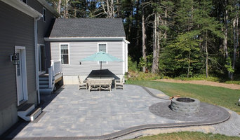 Stamped Concrete and Custom Fireplace Patio