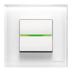 - Zenit (Cristal Blanco) - Interruptores y enchufes