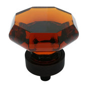Cosmas 5268ORB-A Oil Rubbed Bronze and Amber Glass Cabinet Knob