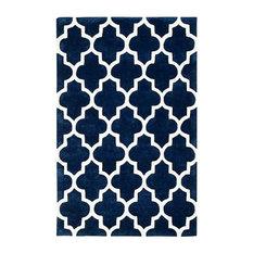 Arabesque Blue Rectangle Plain/Nearly Plain Rug 200x285cm