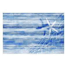 """""""Starfish"""" UV Ink Print on White Wood, 45""""x30"""""""
