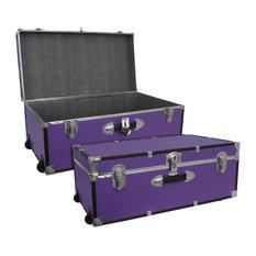 """Seward Trunk Footlocker with Wheels, Purple, 30"""""""