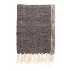 Handwoven Cotton Table Cloth/Throw, Black