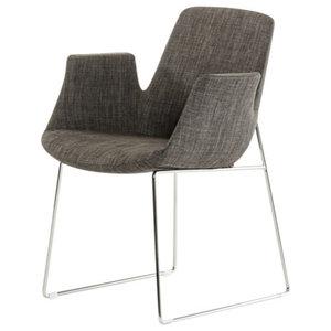 Modrest Altair Modern Fabric Dining Chair, Gray