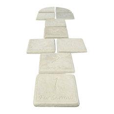 Magpie Hopscotch Garden Stepping Stones, Set of 10, Antique